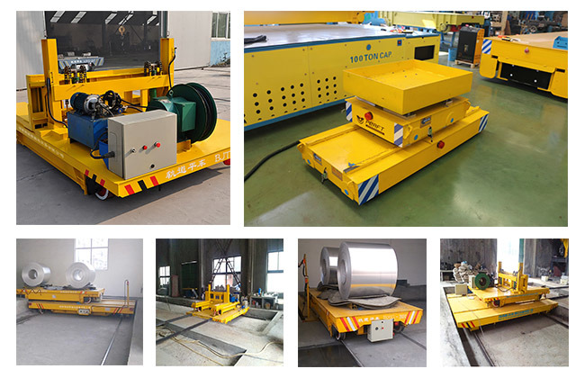 Automated Cross-Track Transporter Heavy Duty Rail Transfer Car