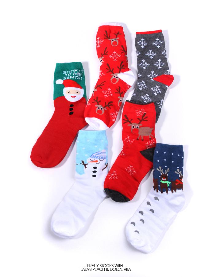 christmas Holiday Lady Cotton Socks Holiday Cotton Socks