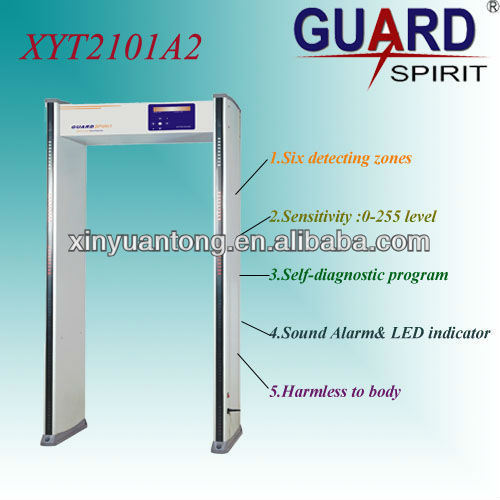 6 Zones 255 Level Anti-Metal Detector Gate for Security (2101A2)