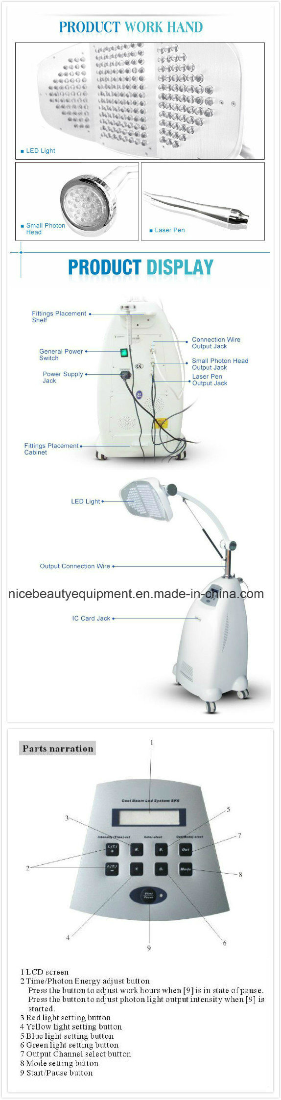 Pigment Removal Feature LED Mask Beauty Equipment Galvanic Facial Machine Price