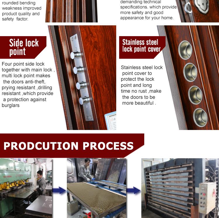 TPS-083 Brand Cheap Steel Door Used Metal Security Door Factory Directly Sale