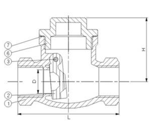 ANSI Low Pressure Female Threaded Stainless Steel Swing Check Valve