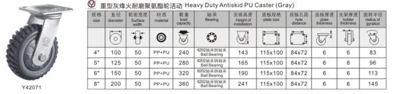 Medium Duty Antiskid PU Wheel Caster (Y3207)