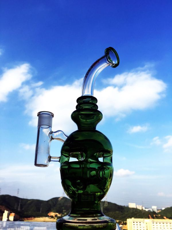 Swiss Biscuit Glass Water Pipe Recycle Smoking Pipe Inliner Perc Glass Water Pipe