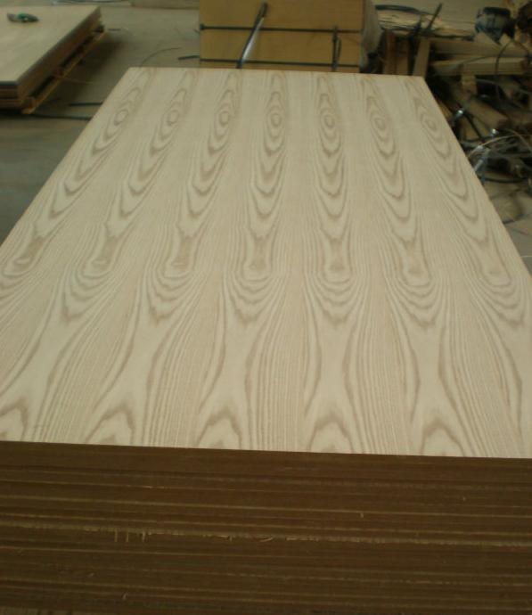 Cheap Artificial Teak Wood Veneer MDF for Furniture Board