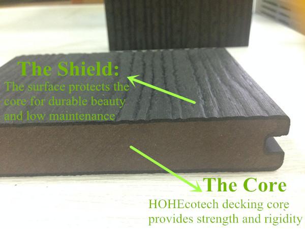 Europe Market Hot! Waterproof Anti-Mold Decking Long Life Coextrusion WPC