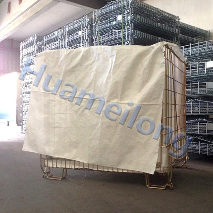Durable Welded Galvanized Wire Mesh Basket for Pet Preform Storage