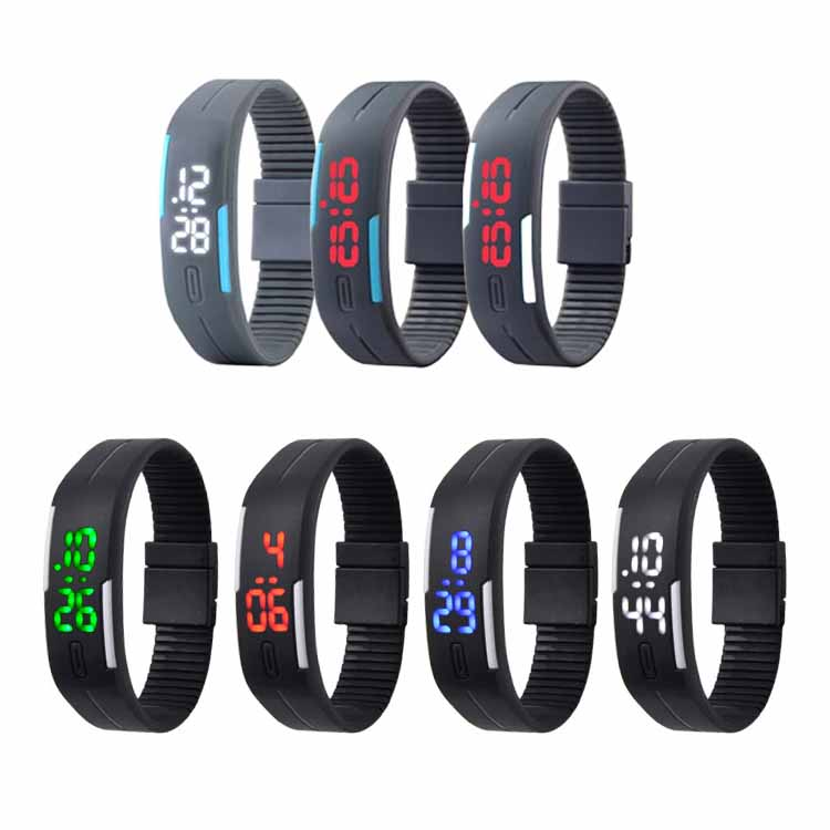 New Design Fashion Silicone Sports Bracelet LED Watches (DC-1011)