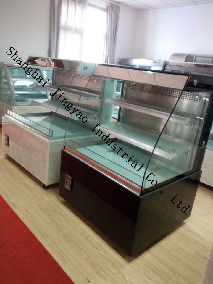 Curved Glass Display Cabinet Refrigeration for Cake
