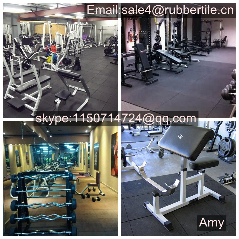 Rubber Floor Tile Gymnasium Flooring