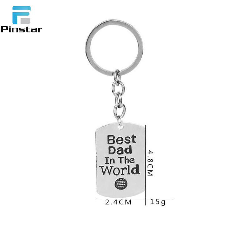 High Quality Custom Souvenir Rectangle Metal Keychain