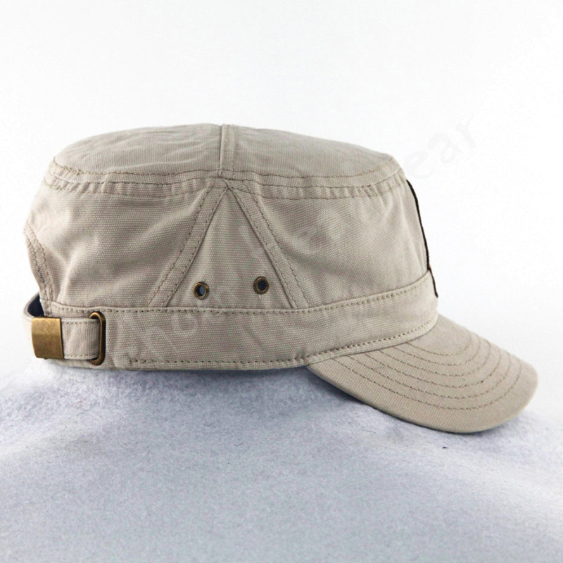 Canvas Army Military Caps with Embroidery Patch