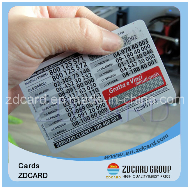 Customized Code Calling Scratch Card