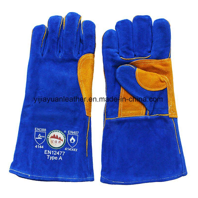 Cowhide Split Leather Labor Welders Working Gloves