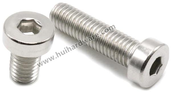 Ss304 Screw DIN7984 Hex Socket Thin Head Cap Bolt