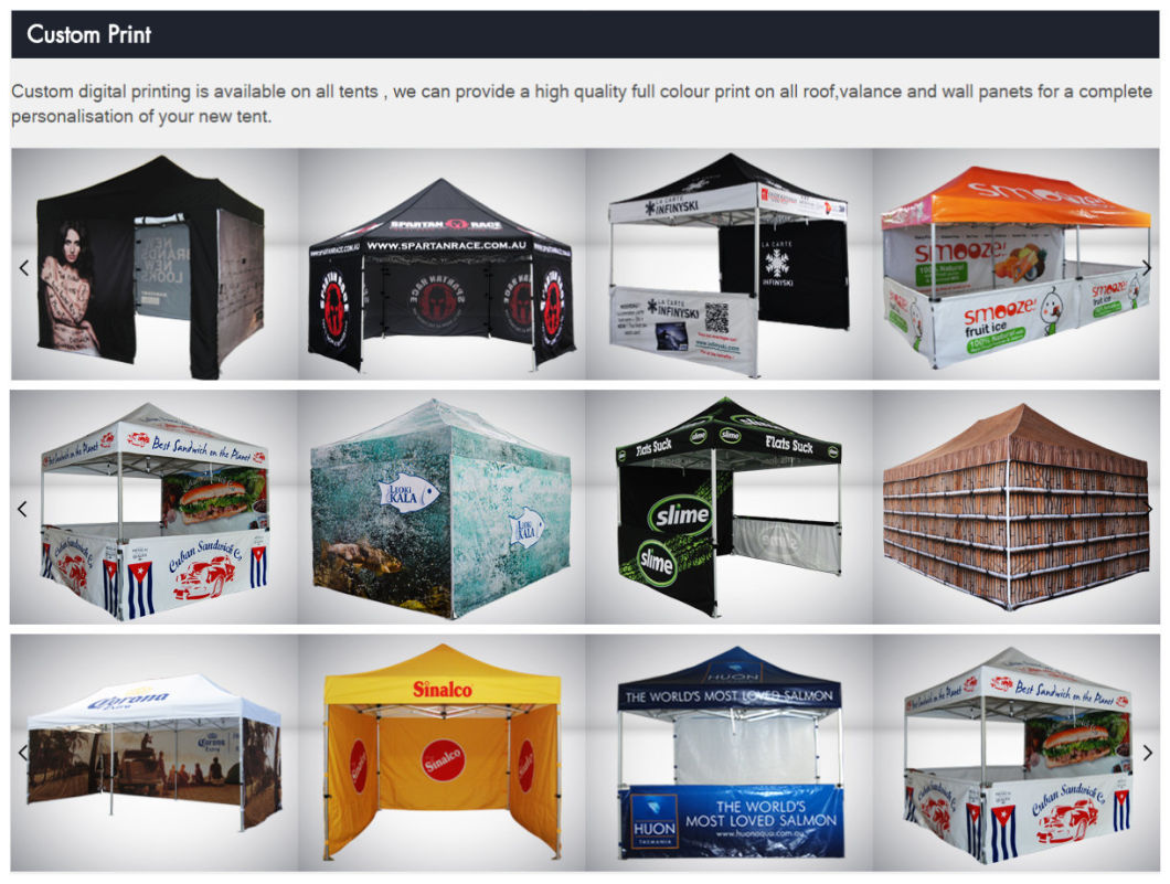 Custom 10X20 Canopy Tent Outdoor Folding Portable Canopy Tent