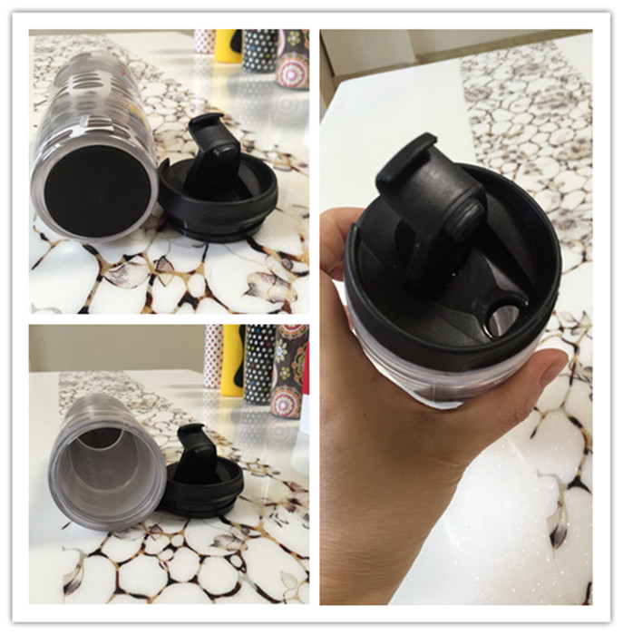 Eco Friendly Plastic Reusable Plastic Coffee Cup with Customized Color