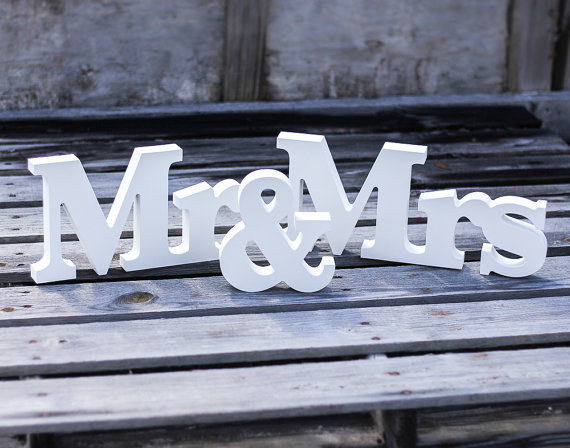 Mr & Mrs Wedding Sign H8 X W43cm Wedding Decoration Mr & Mrs Letters