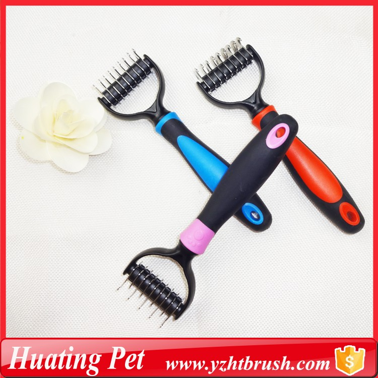 Durable blade dog fur grooming comb