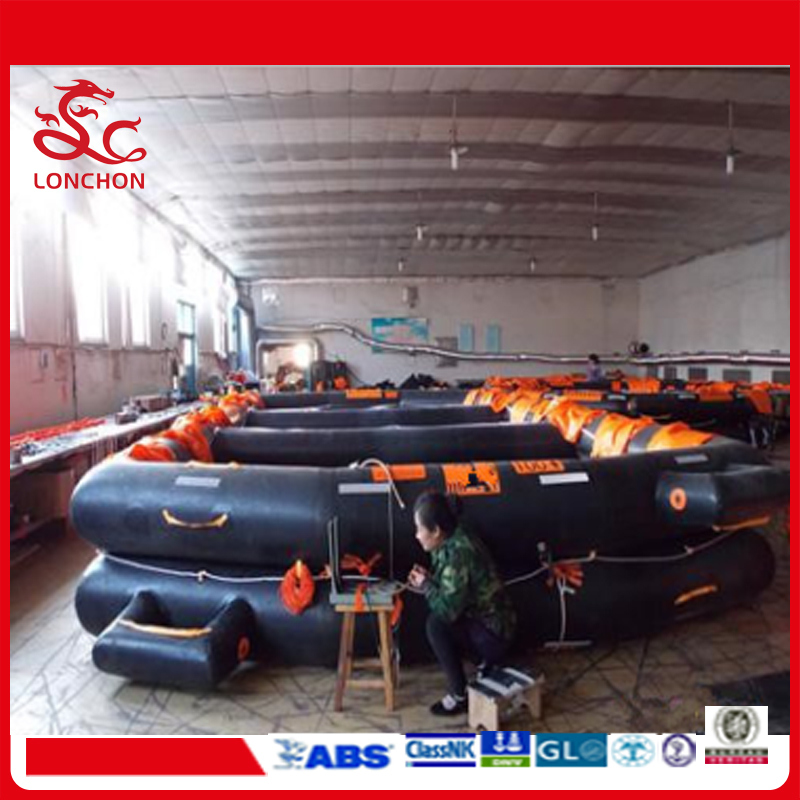 Marine Inflatable 6 to 100 Persons Open Reversible Liferaft