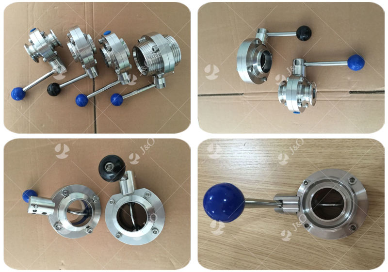 Stainless Steel Sanitary 3PCS Welded Butterfly Valve