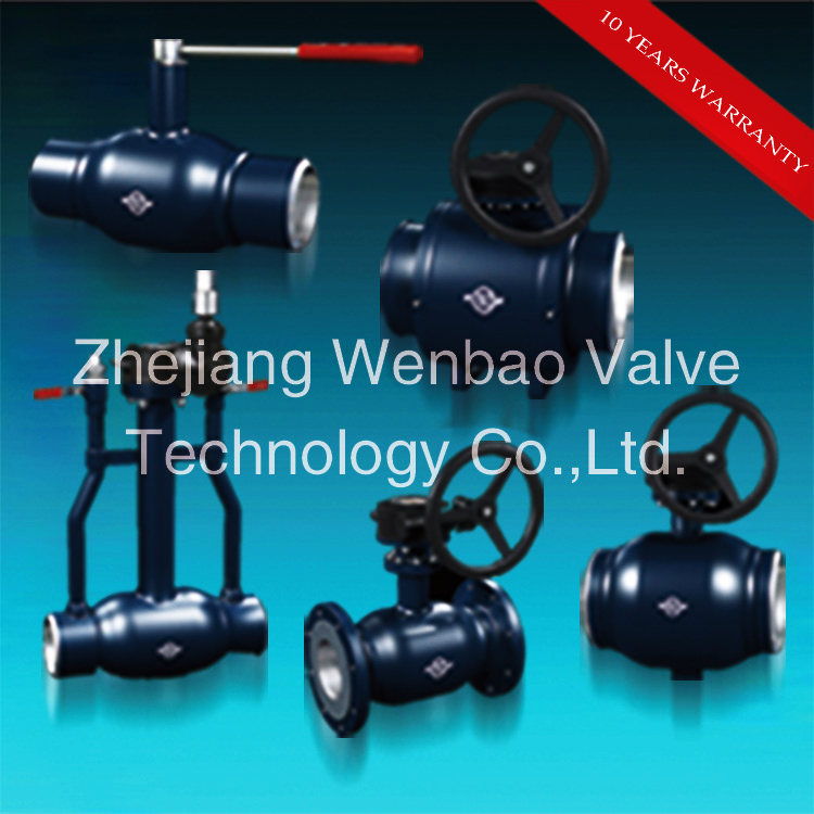 Staniless Steel Fully Welded Manual Ball Valve with Handle