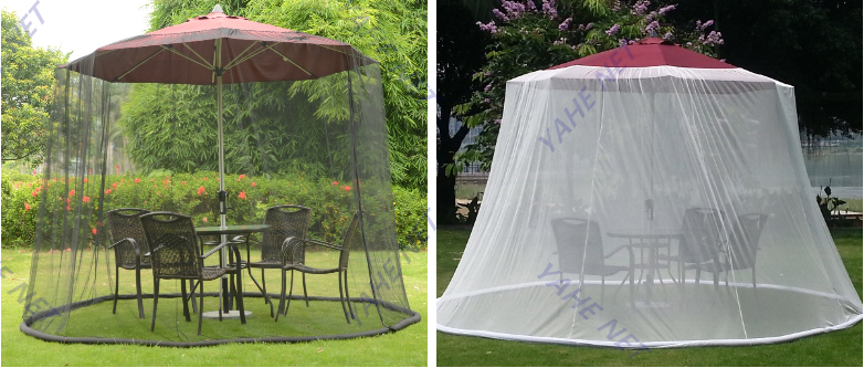 Umbrella Table Screen Keeps Insects Mosquitoes out