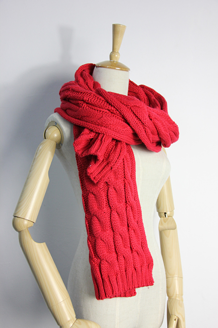 Made to Order Cable Hand Knit Winter Scarf Shawl
