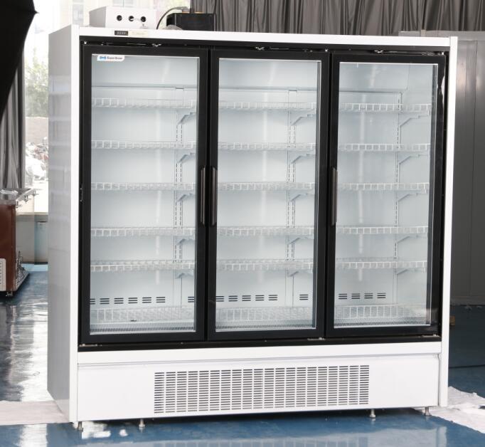 upright display freezer