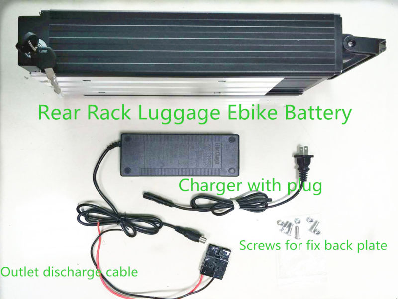 48V 21ah 1000W Ebike/Rack/Rear/Luggage/Lithium Battery with BMS Send a 54.6V 2A Charger in China with Stock