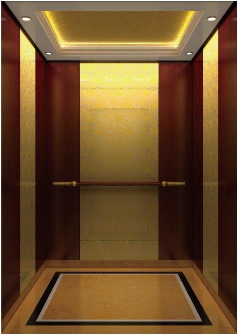 Passenger Elevator Lift Mr & Mrl Mirror Etched Aksen Hm-2000-2A