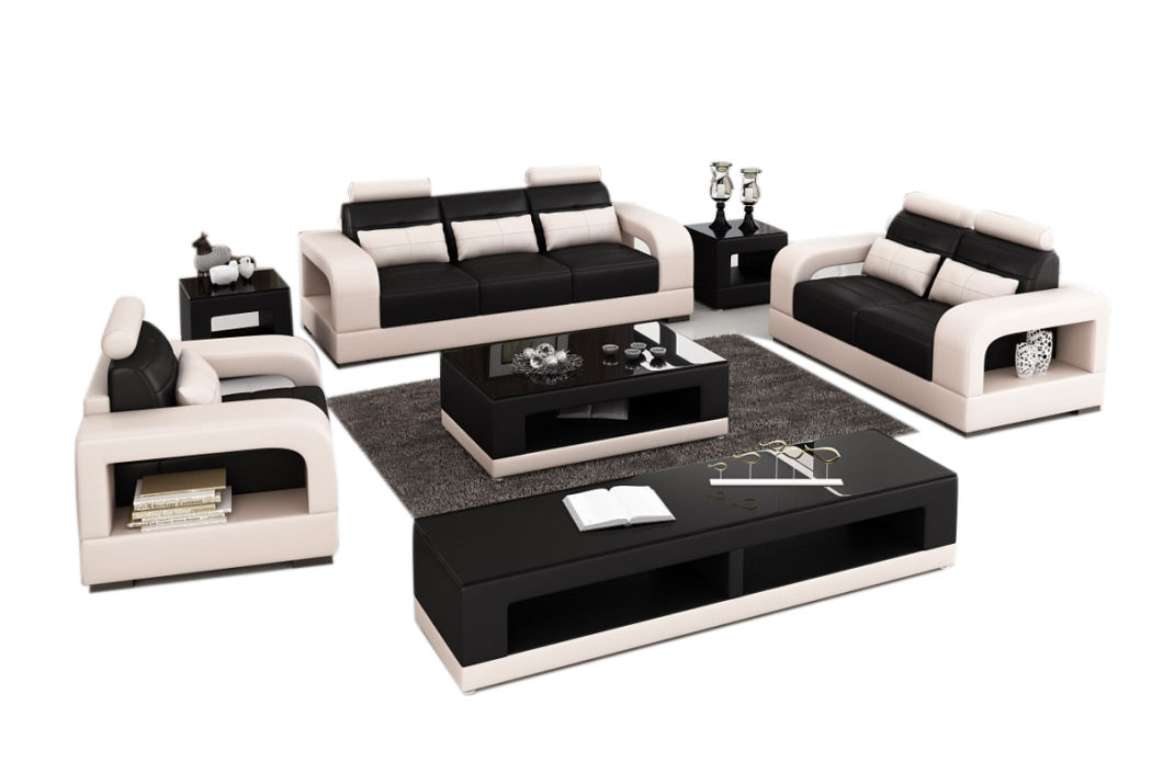 Modern Living Room Furniture Hotel Reception Leather Office Sofa