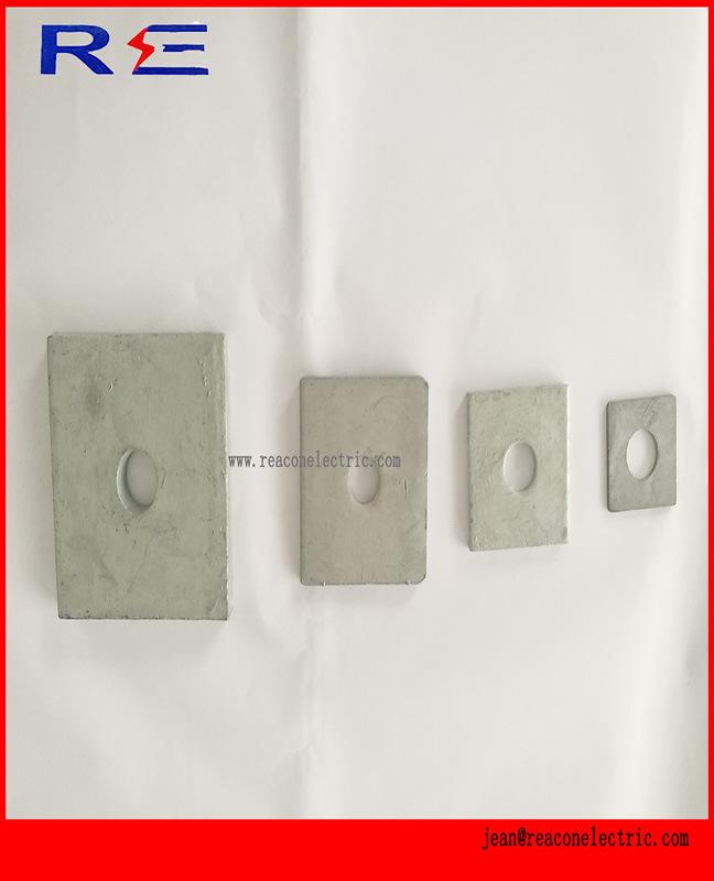 Galvanized Square Flat Washer for Pole Line Hardware