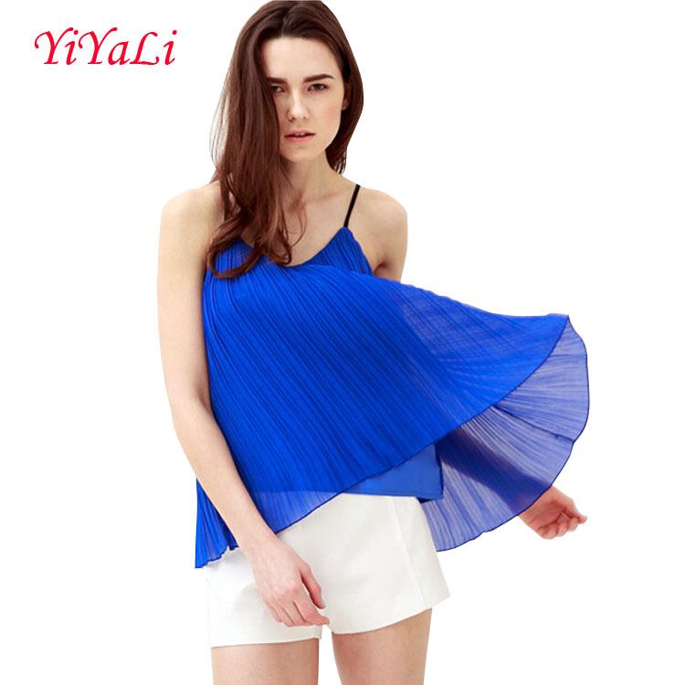 Summer Woman T-Shirt of Sleeveless Top Blouse Girl Clothing