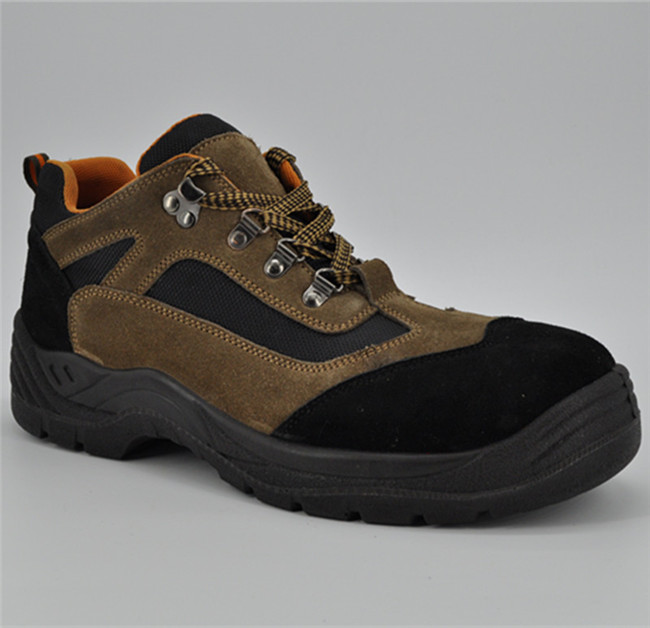 Genuine Leather Upper PU Outsole Safety Shoes Ufb055