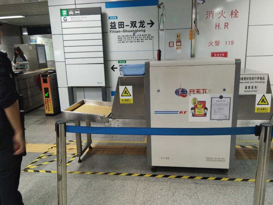 At6550 Middle Size X-ray Baggage and Parcel Security Inspection Scanning System - High Quality with UK Detector