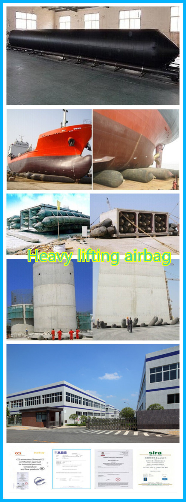 Ship Launching and Lifting Marine Inflatable Rubber Airbags