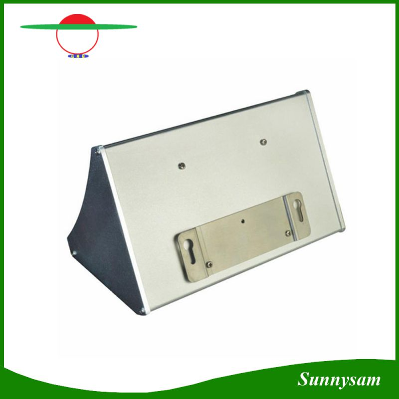1000lm 56 LED Microwave Radar Sensor Remote Control Wall Mounted Wireless Solar Garden Light