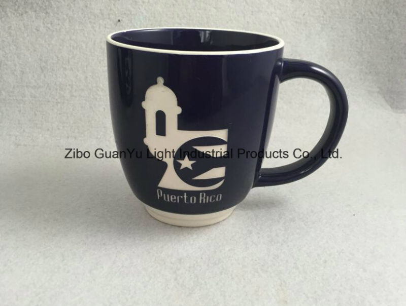 Sandblast Mug, Engraved Mug, Ceramic Mug with Engraved Logo