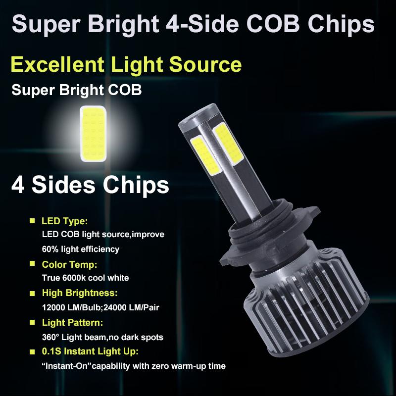 Lightech G4 Hb3 C6 LED Car Front Lights