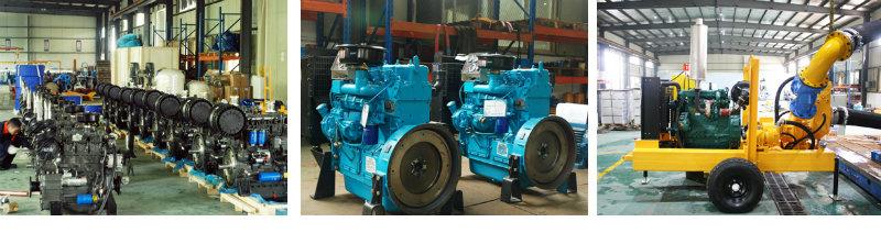 Diesel Engine Trailer Mounted Self Priming Water Pump
