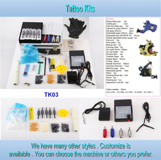 2/3/4 Tattoo Gun Type Cheap Series Tattoo Kit for Sale