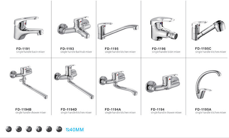 Single Handle Wall Mounted Brass Shower Faucet 1194