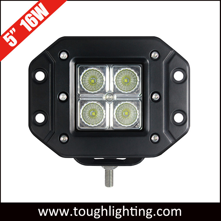 5 Inch 12W Auto LED Working Light with Flush Mount