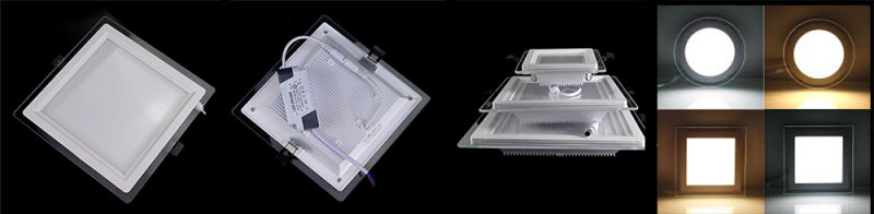 New Design LED Recessed Light 6W Decorative Glass Panel Light