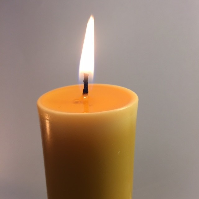 Church Pillar Beeswax Candle