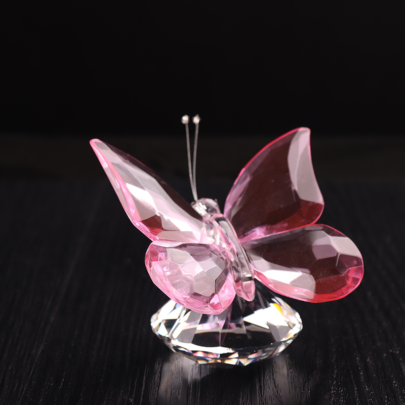 Wholesale Wedding Favor Crystal Butterfly Figurine for Decoration (KS28020)