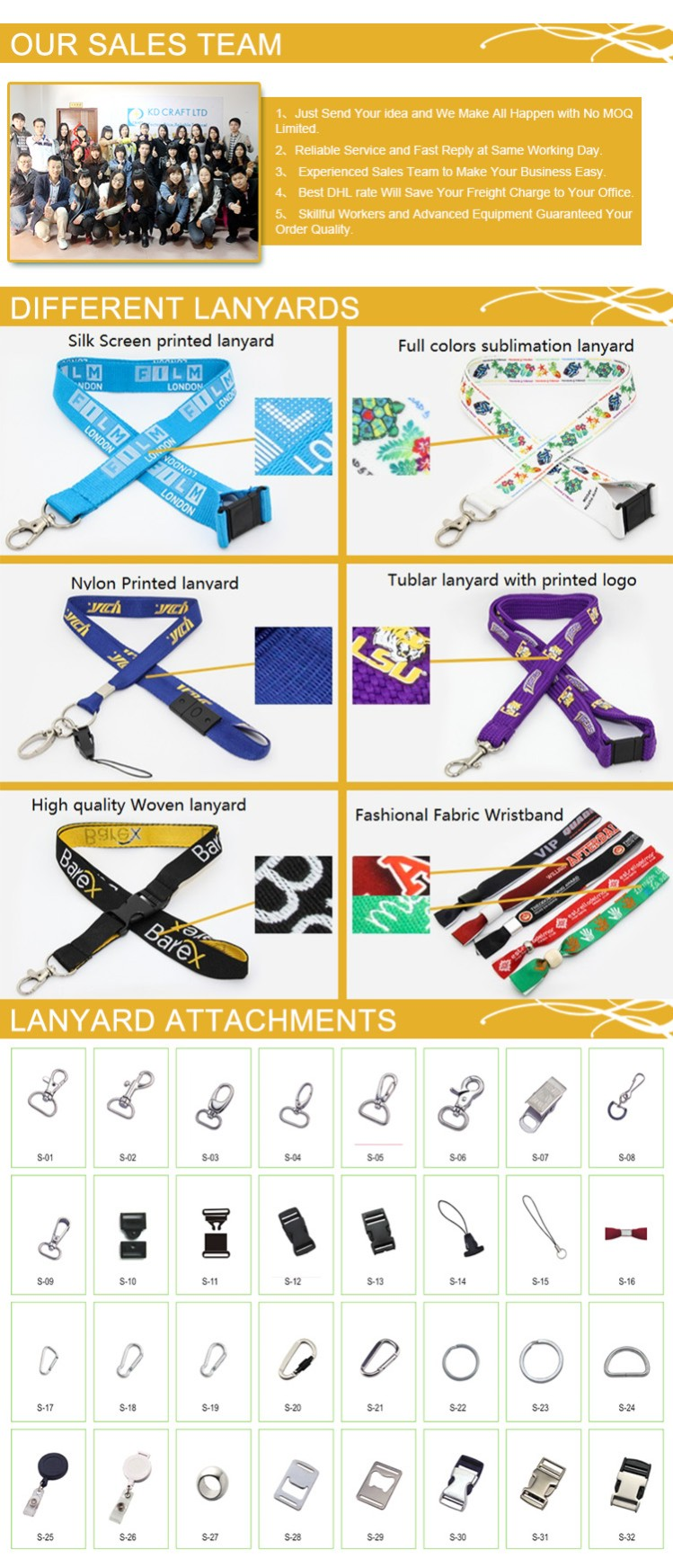 High Quality Customized ID Badge Holder Nylon Printed Lanyard at Factory Price From China