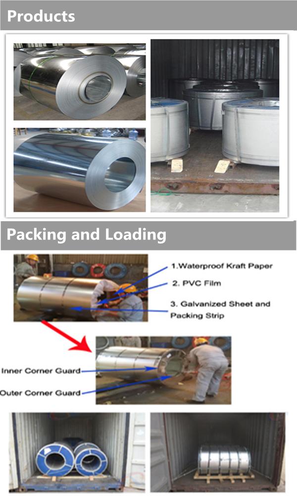 S280gd S390gd Dx52D Z275 Galvanized Steel Sheet