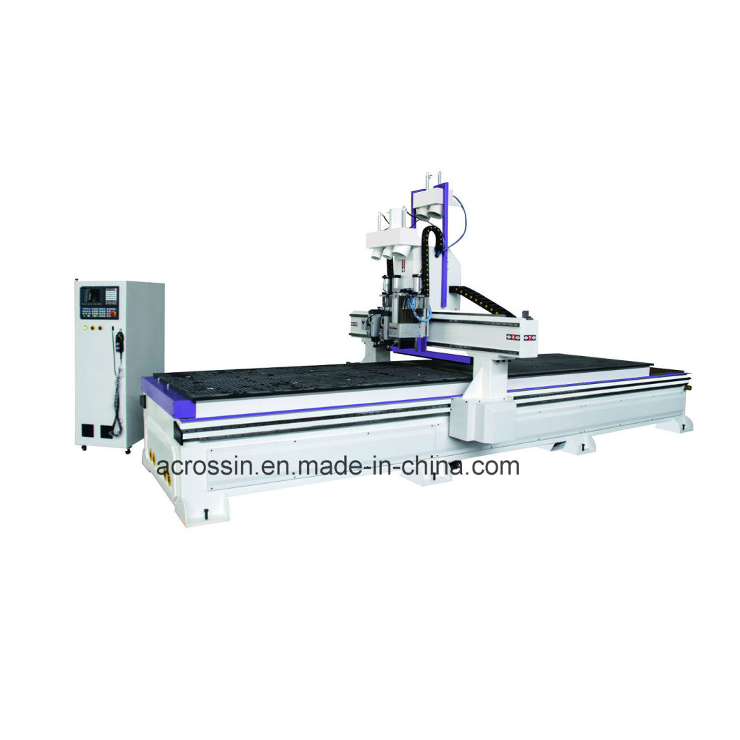 Double Working Table Panel Furniture Production Line CNC Router Machine